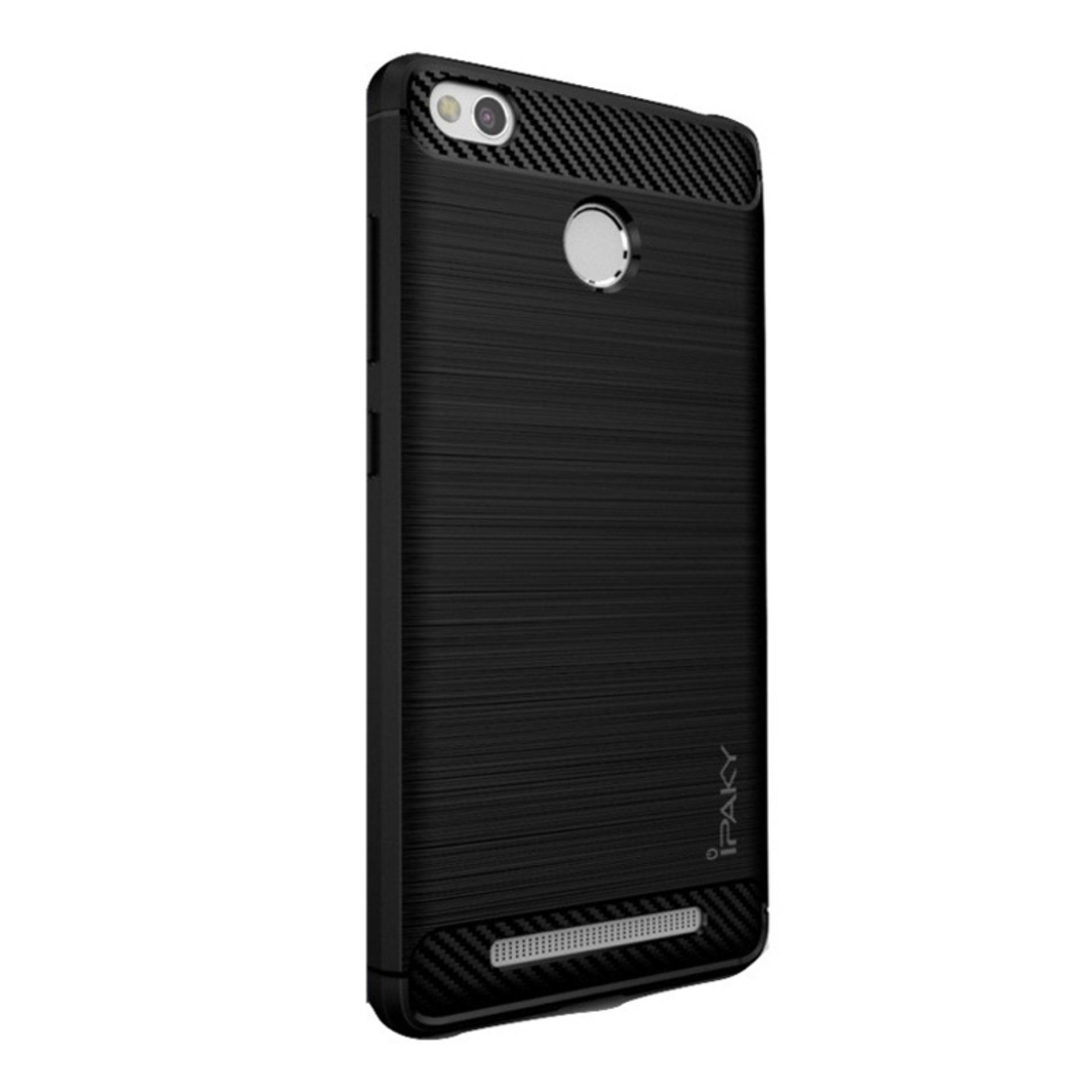 Original Lazada Case Ipaky Shockproof Carbon Hybrid For Xiaomi Redmi 4x - Hitam