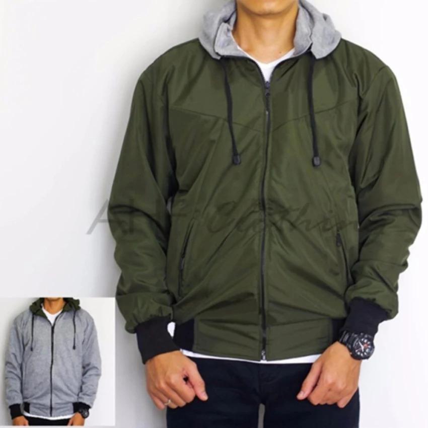 Spesifikasi Jaket Parasut Fleece 2In1 Bolak Balik Bnn Merk Zipper Puller