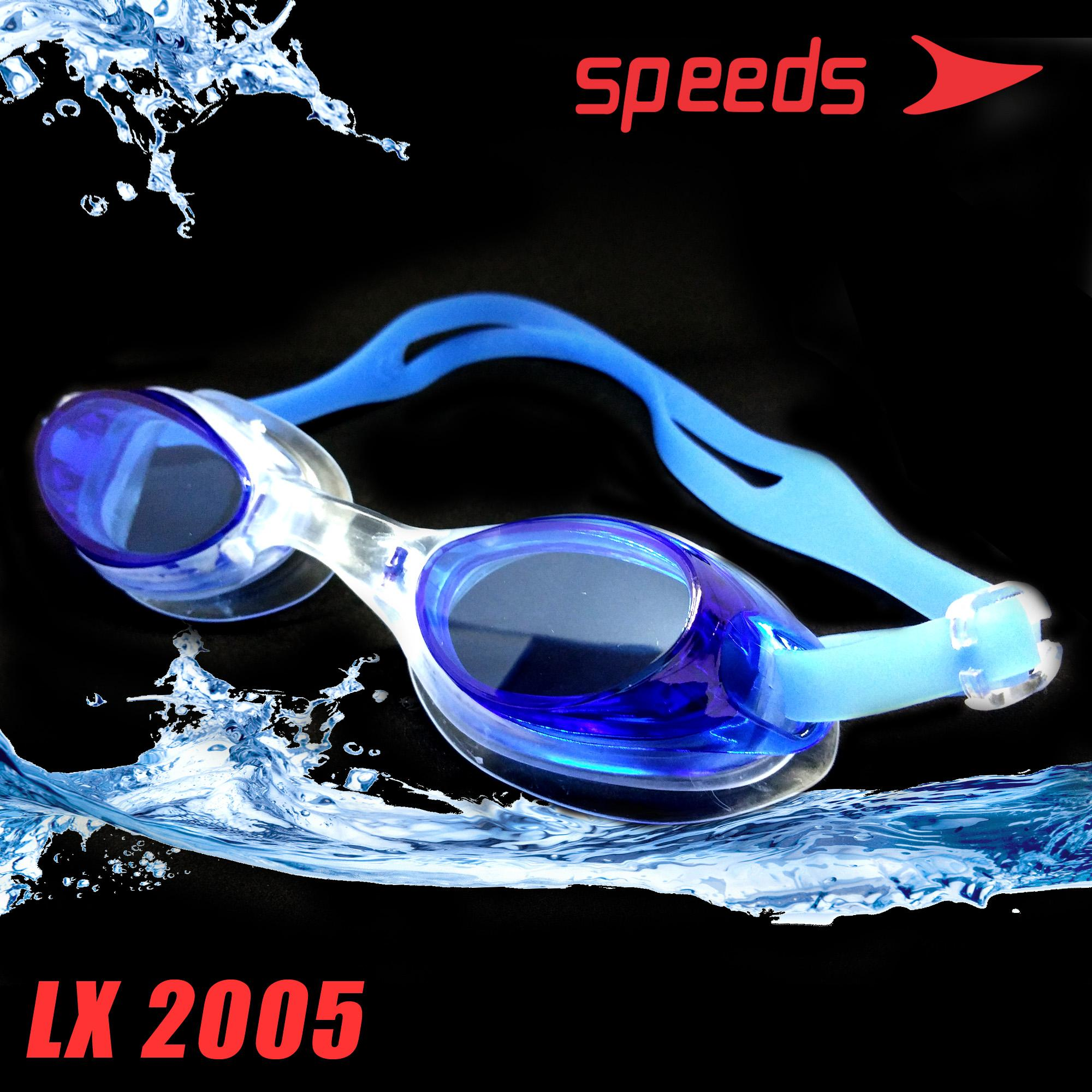 KACAMATA RENANG SWIMMING GOGGLES ORIGINAL SPEEDS LX 2005 ANTI-FOG AND UV  SHIELD IMPORT TERMURAH a458c4668d