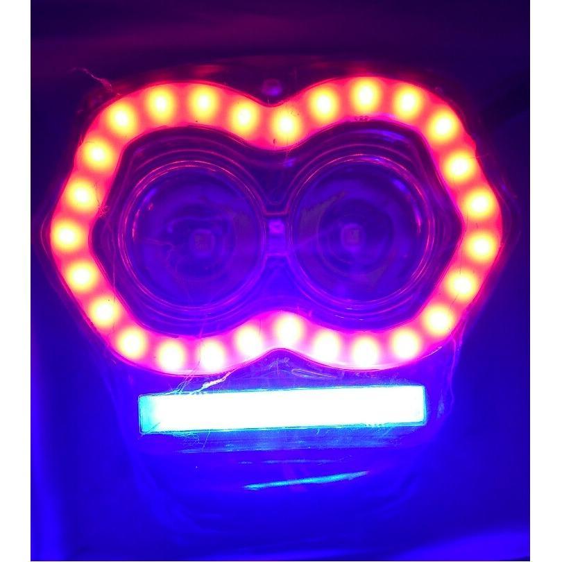 Gambar Produk Rinci Lampu Tembak 2 Mata PLus USB Terkini