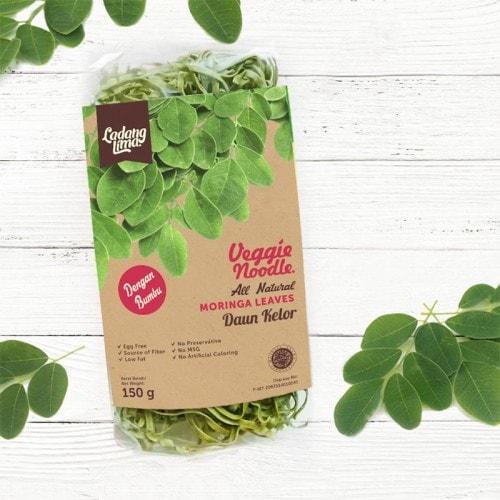 TERMURAH Ladang Lima, Mie Moringa (Kelor) 150g Dengan Bumbu Snack Diet Sehat