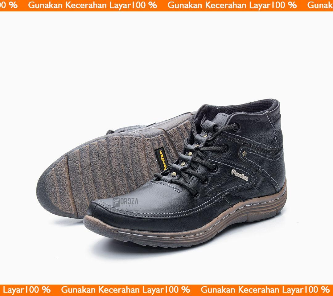 sepatu boots pria kulit asli model ankle boot bks01