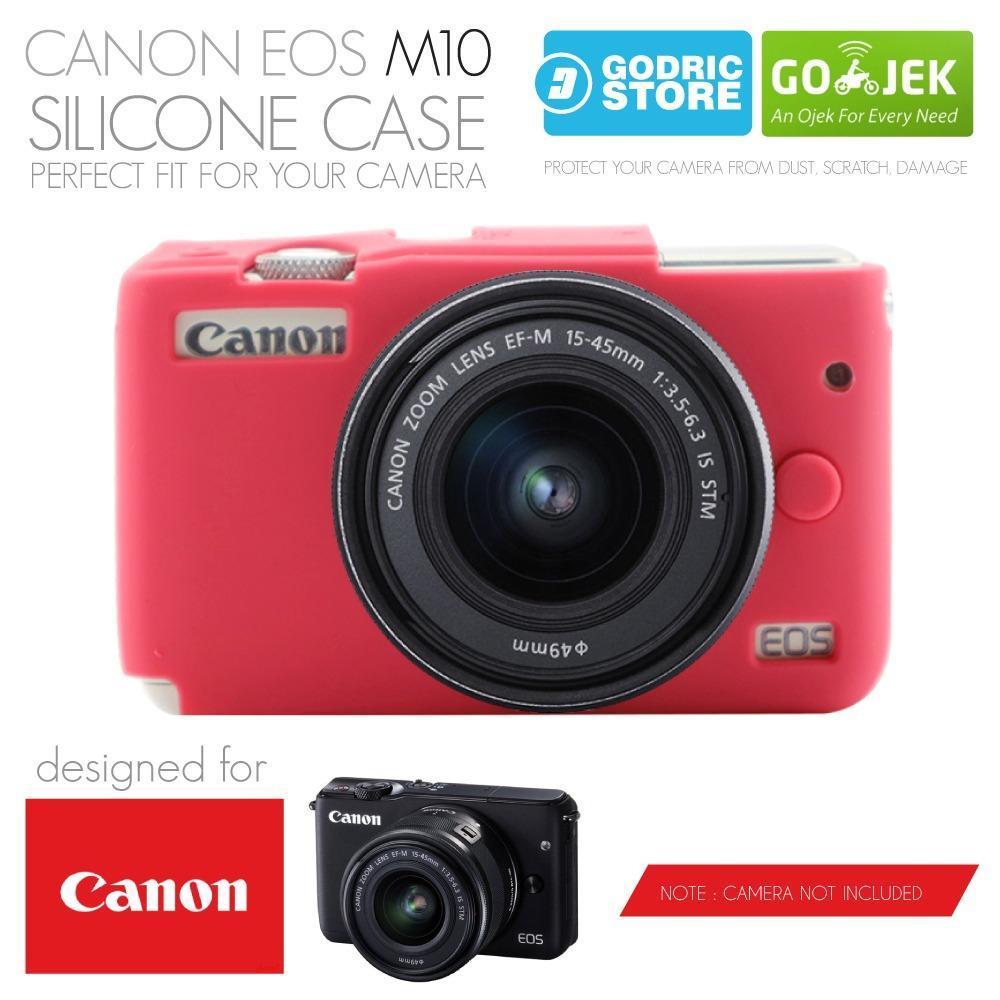 Godric Silicone Canon EOS M10 Silikon Case / Sarung Silicon Kamera Mirrorless - Pink Tua