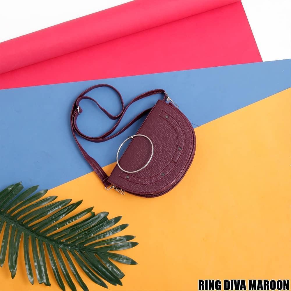 Ubay Shop - Tas Selempang Wanita - Sling Bag Ring Diva