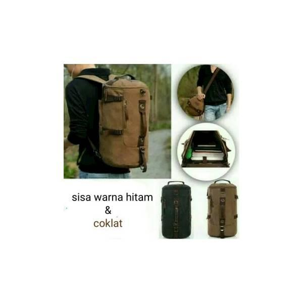 Tas Ransel 8056/Kanvas/Laptop/3Fungsi/Distro/Army/Import