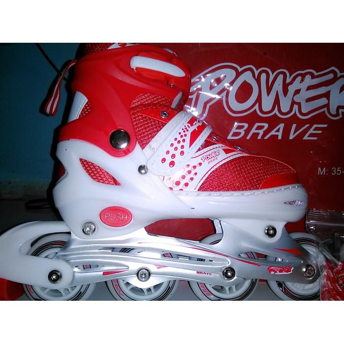 Sepatu Roda Power Brave Merah - Sfqwdx