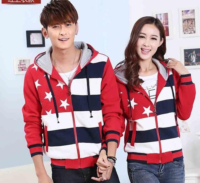 [Couple Five Star Merah LO] Jaket Couple Babytery Merah