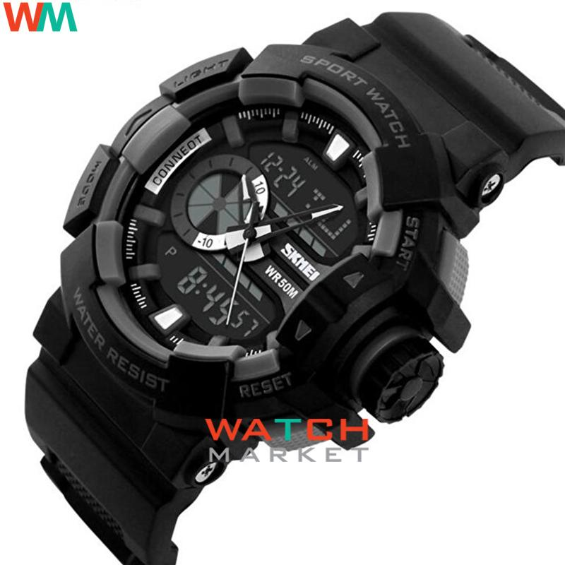 Detail Gambar SKMEI Casio Dual Time Men Sport LED Watch Anti Air Water Resistant WR 50m