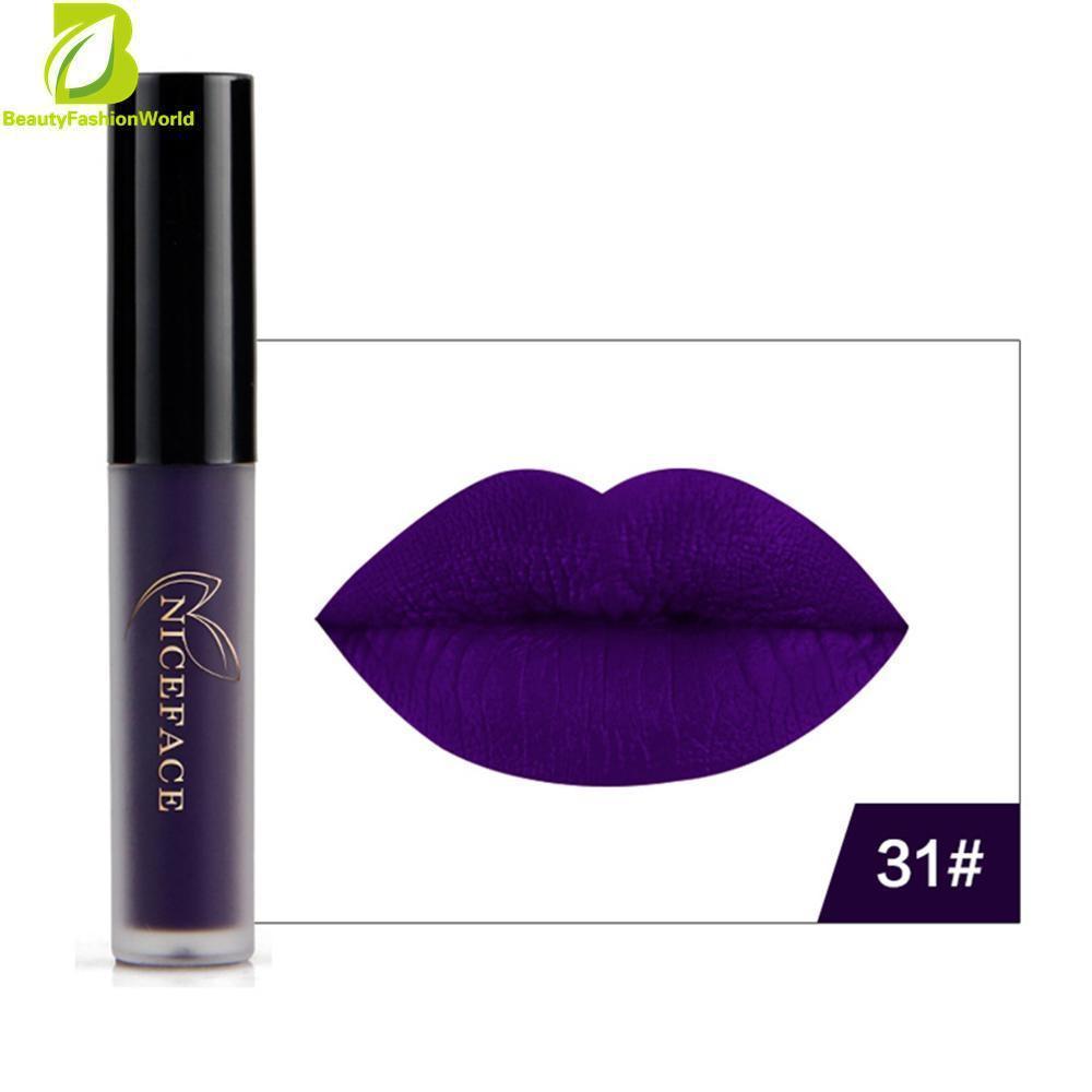 Dekorasi Bibir Gloss Lipstik Riasan Anti-Air Warna Tidak Mengkilap Kosmetik untuk .