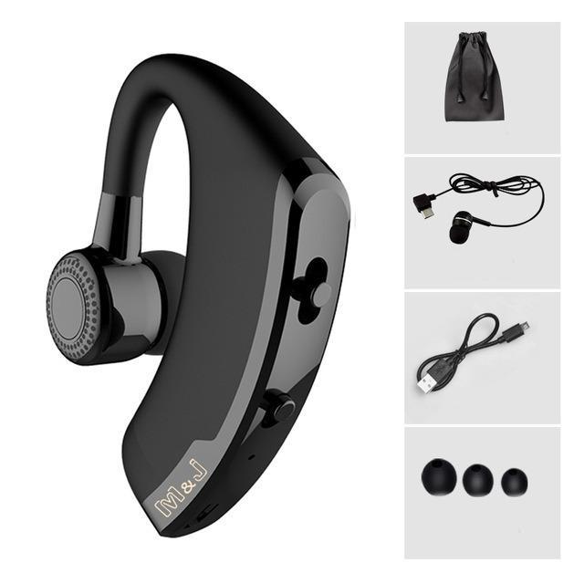 Daftar Harga V9 Handsfree Bisnis Bluetooth Headphone Dengan Mic Kontrol Suara Nirkabel Bluetooth Headset Untuk Drive Noise Cancelling Hitam Intl Oem