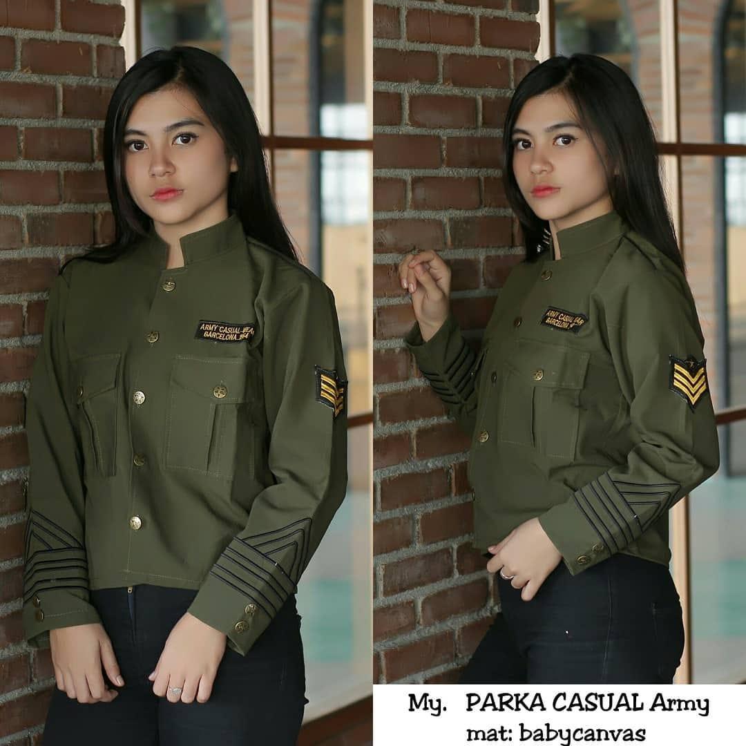 Kelebihan Jaket Parka Army Casual Untuk Wanita Terbaru Warna Maroon ... 272ca71766