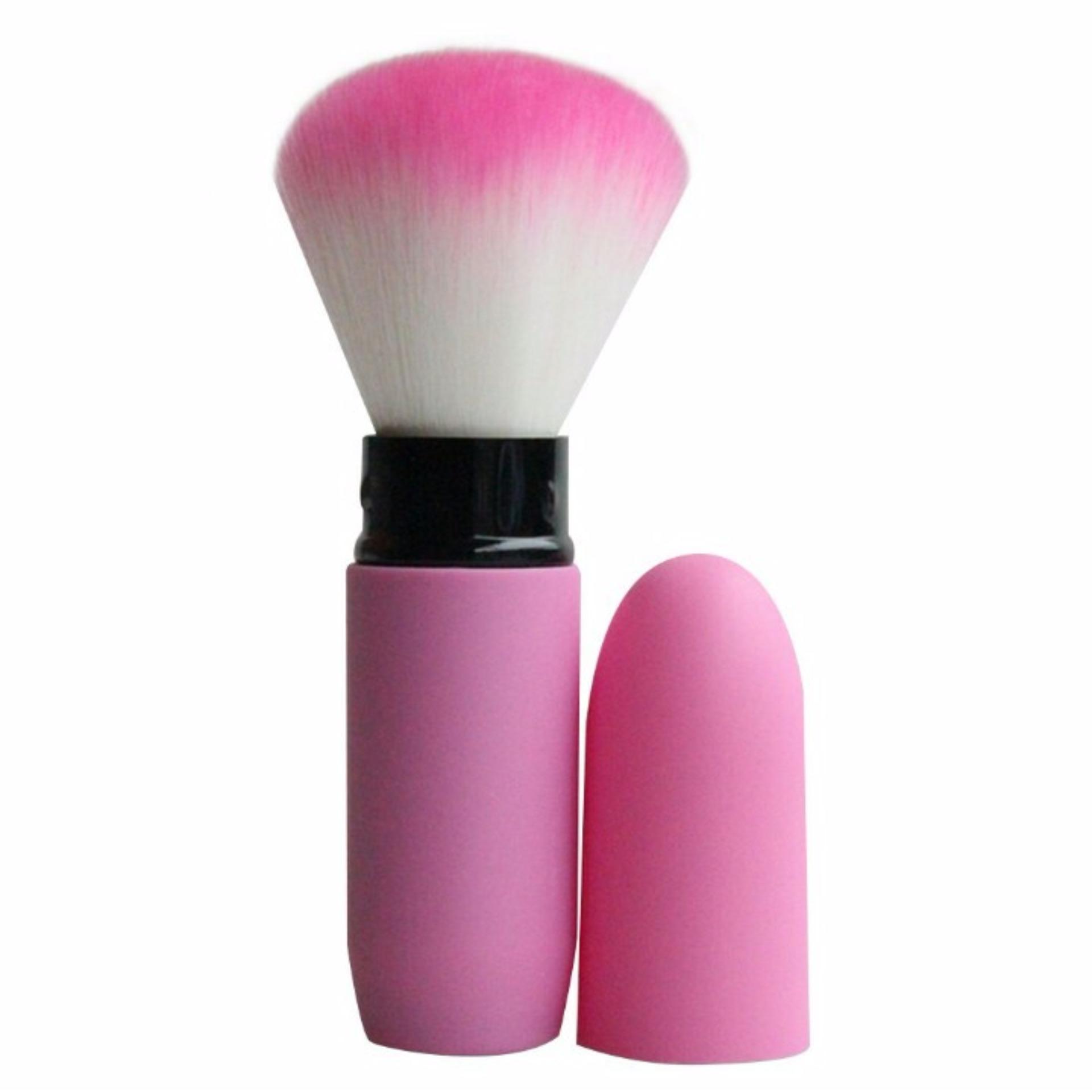Kuas Make Up / Makeup Brush Portable Blush On - Pink