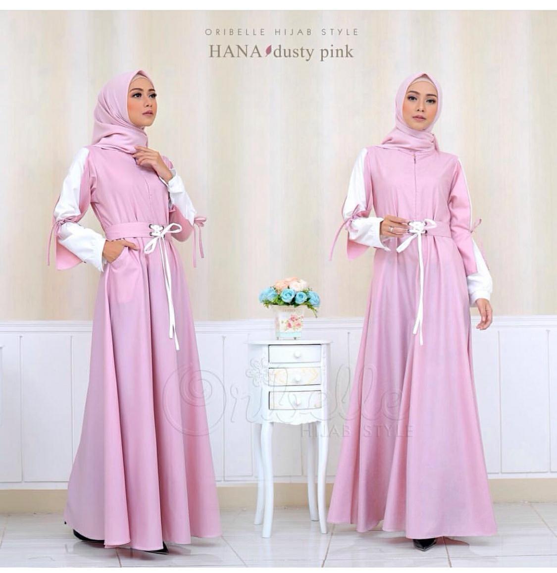 S-Fashion Hani Baju Gamis Pesta Dress Muslim Wanita Lengan Panjang Pashmina  Busui c0889c9812
