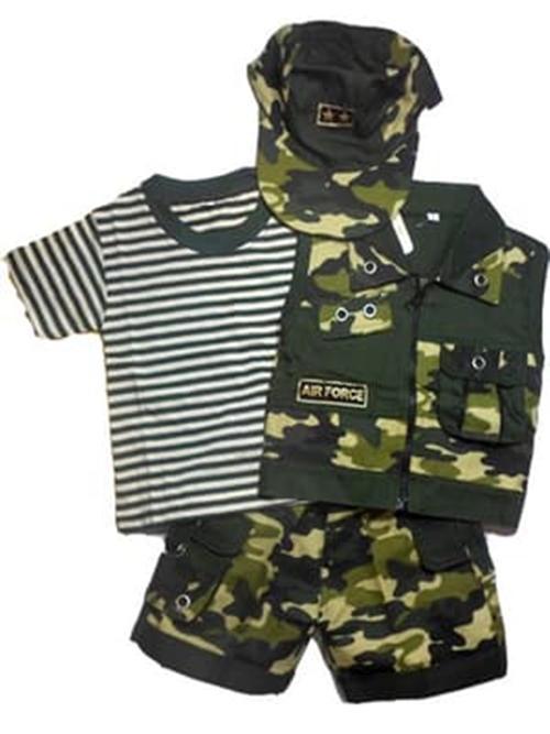 Devandy store- Terlaris - Army Setelan Baju Profesi Tentara Loreng-Abri Anak Bayi Laki