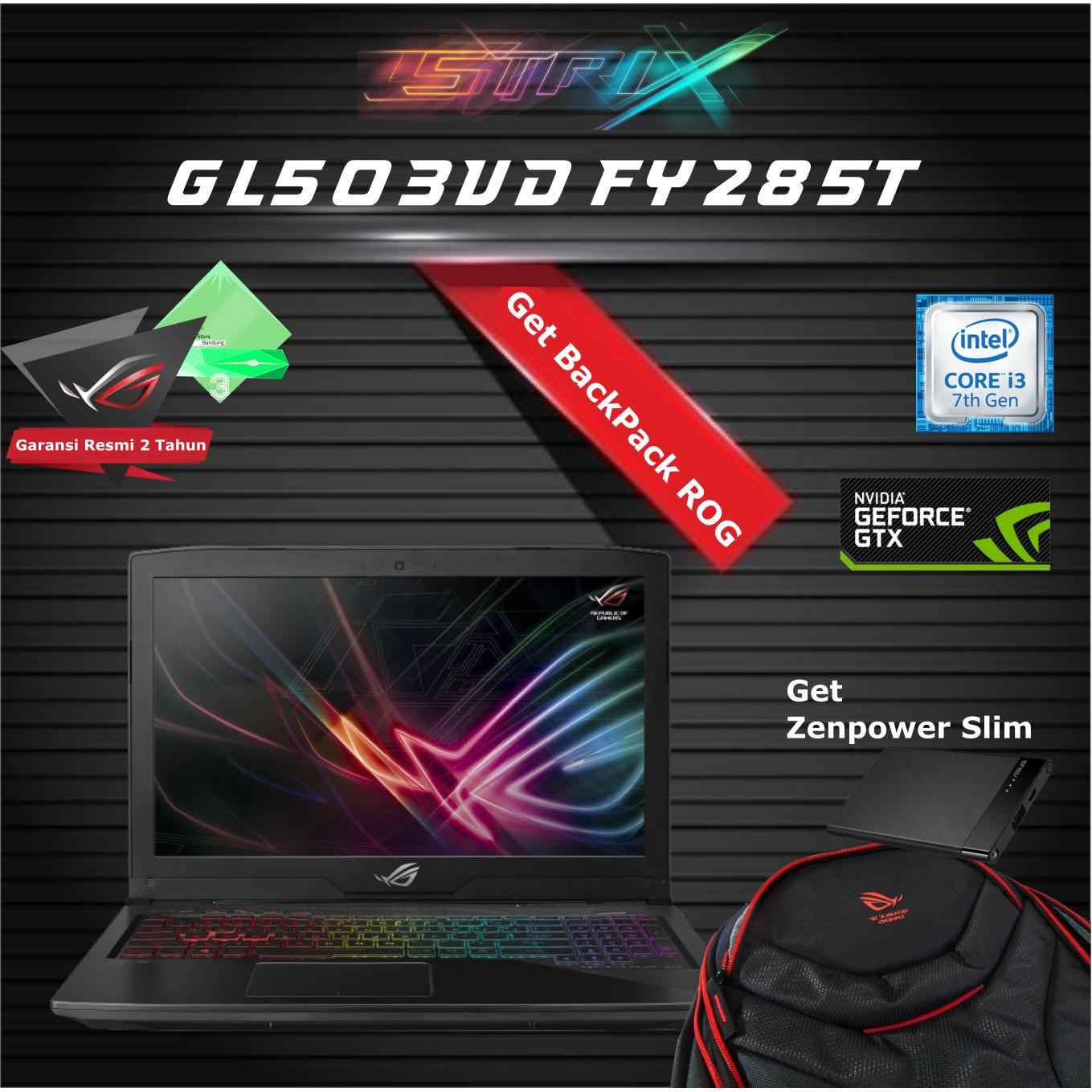 Asus ROG GL503VD-FY285T Laptop Gaming - Black [Intel Core i7/ 15.6 Inch/ RAM 8GB DDR4/ HDD 8GB+1 TB/ nVidia GTX1050M-4GB/ Win 10]