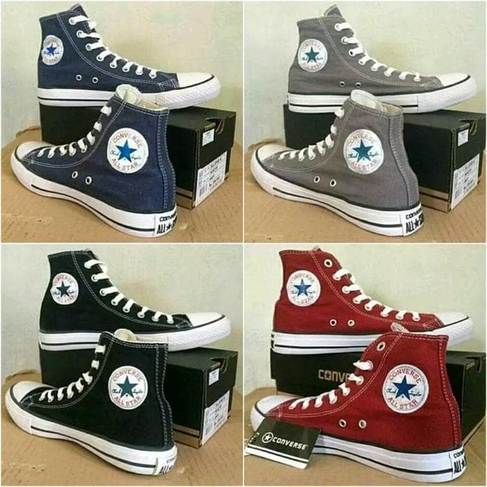 01426cb7595d Harga Murah Sepatu Converse All Star Grey Hight Plus Box Terbaru ...