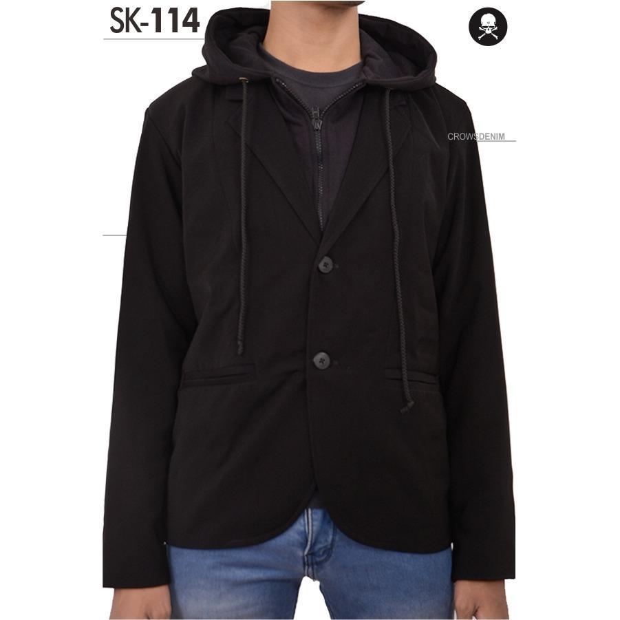 harga Jas Premium - Jaket Black Blazer Style Hoodie Design Trendy SK-114 - Hitam Lazada.co.id