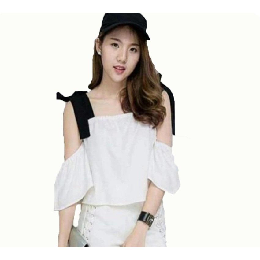 Vshop91jkt - Blouse Chaca Blouse Babol Blouse Wanita Blouse Crepe Baju Babol Atasan Babol Baju Putih