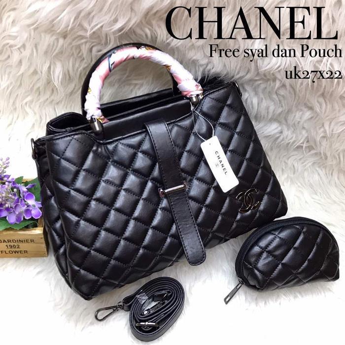 Tas Tas Selempang Branded Wanita Cantik Berkelas  Tas Chanel Lidah 3 Ruang(Tas Import,Fashion wanita) - Kuning