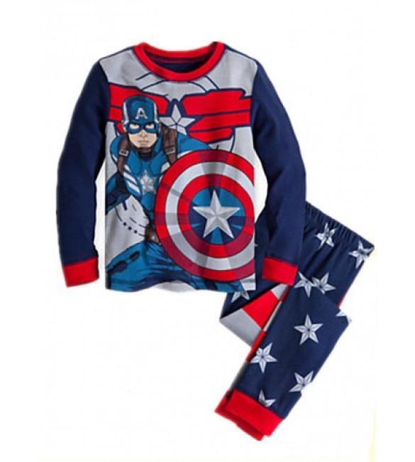 Baju tidur anak laki-laki/Piyama GAP Hk anak laki-laki Captain America