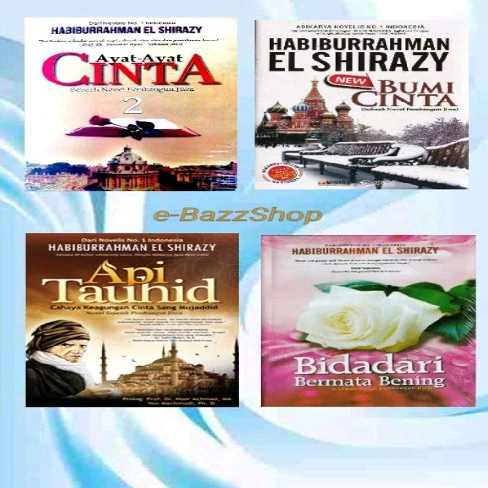 PAKET 4 NOVEL TAUHID BUMI CINTA AYAT AYAT CINTA 2 BIDADARI BERMATA BENING  rama store Rumah_Buku