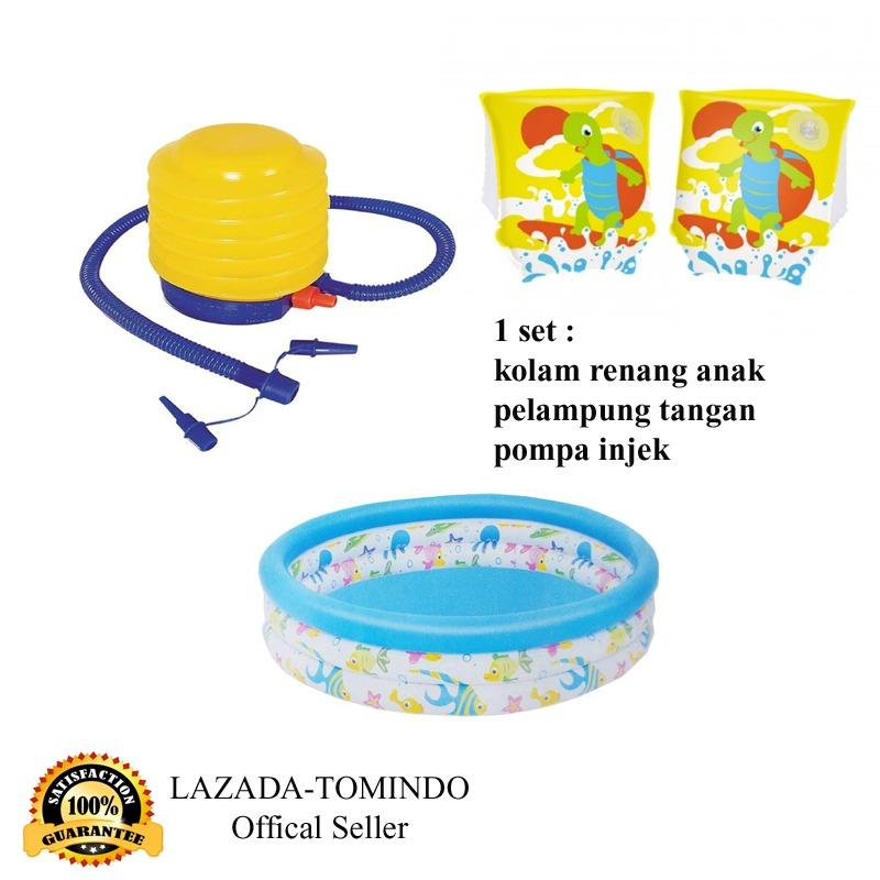 Diskon Tomindo Bestway Ocean Life Pool 51008 Armbend Pompa Injak Kolam Renang Anak Pompa Injek Pelampung Branded