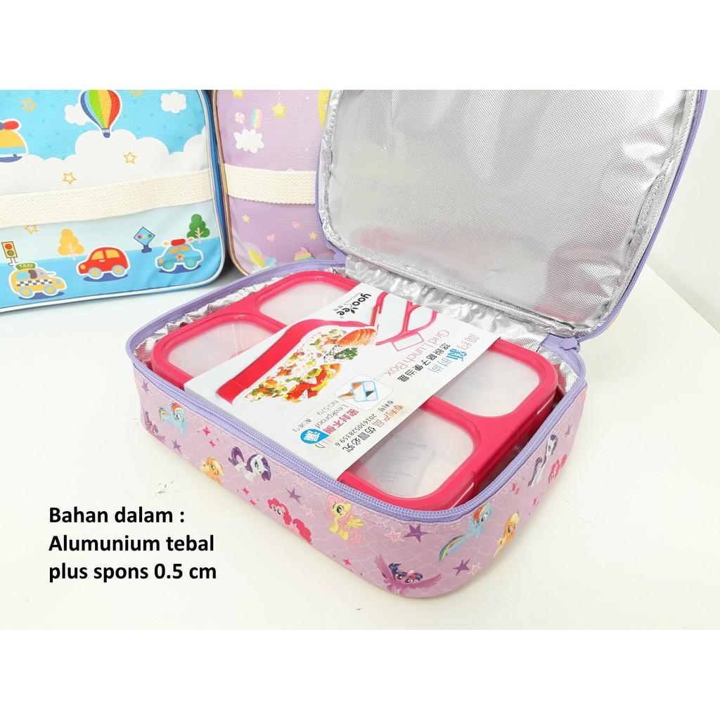 Fitur Set Lunch Box Kotak Makan Bento Yooyee Dan Bag Tempat Bekal Full Printing Variasi Sup