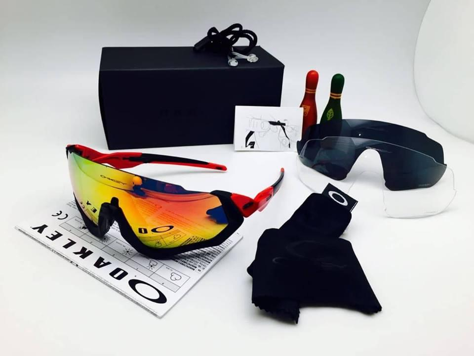 Kacamata Sport Flight Jacket 3 Lensa // Outdoor // Sepeda // Safety /