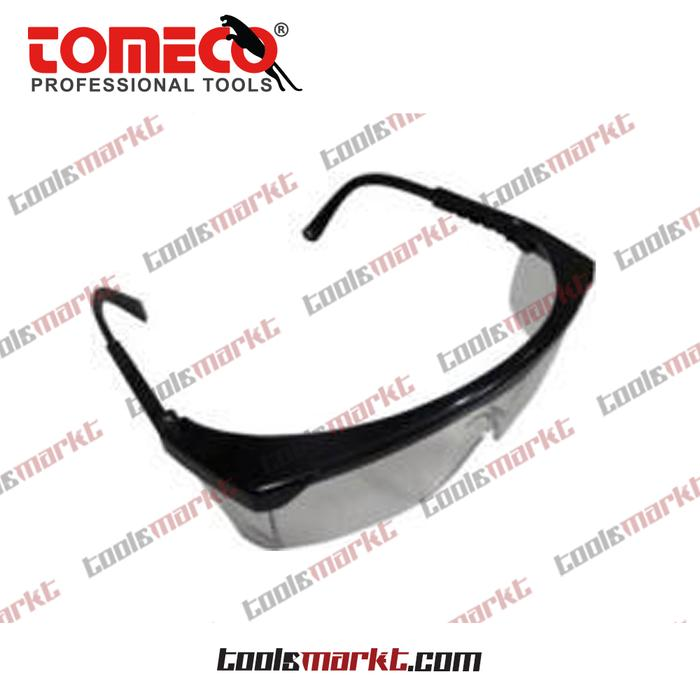 ORIGINAL - Tomeco Kacamata UV Lensa Hitam Gagang Hitam Safety Glasses KPS-842