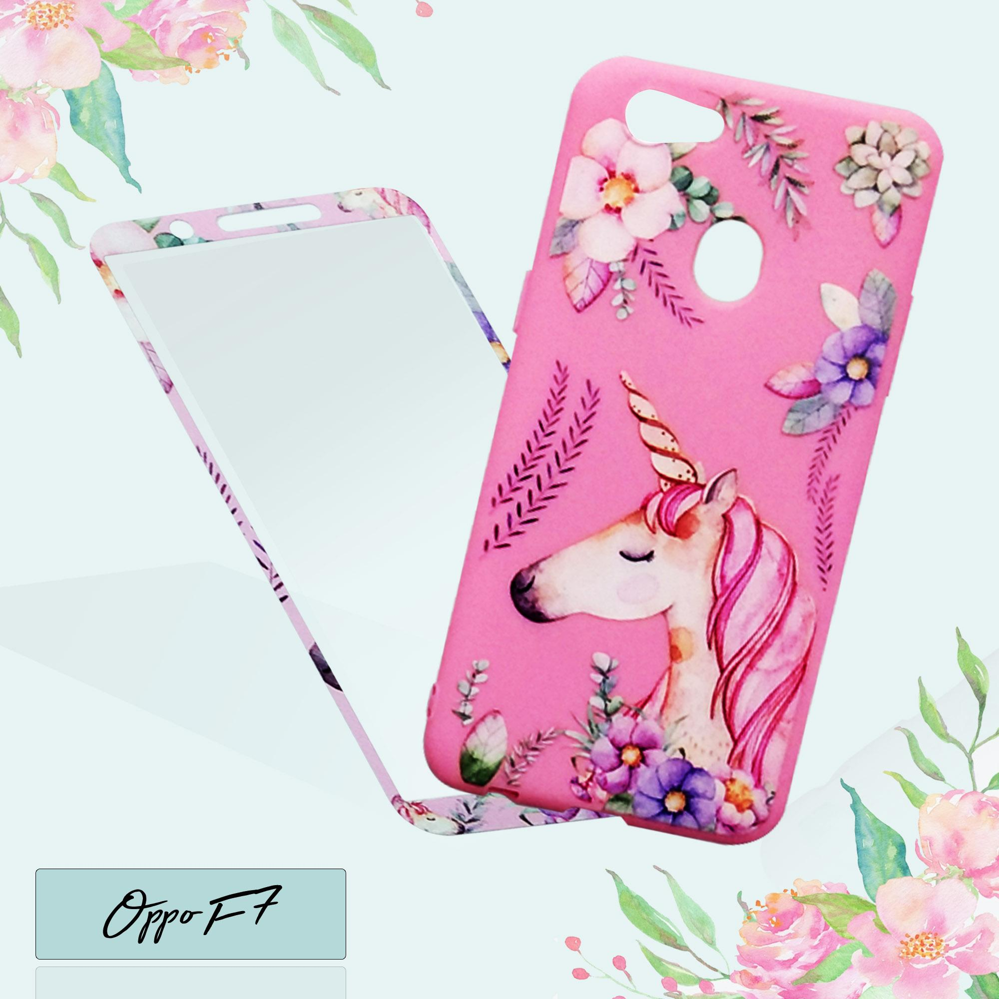 BCS Softcase Unicorn Plus Tempered Phone Case New Oppo F7