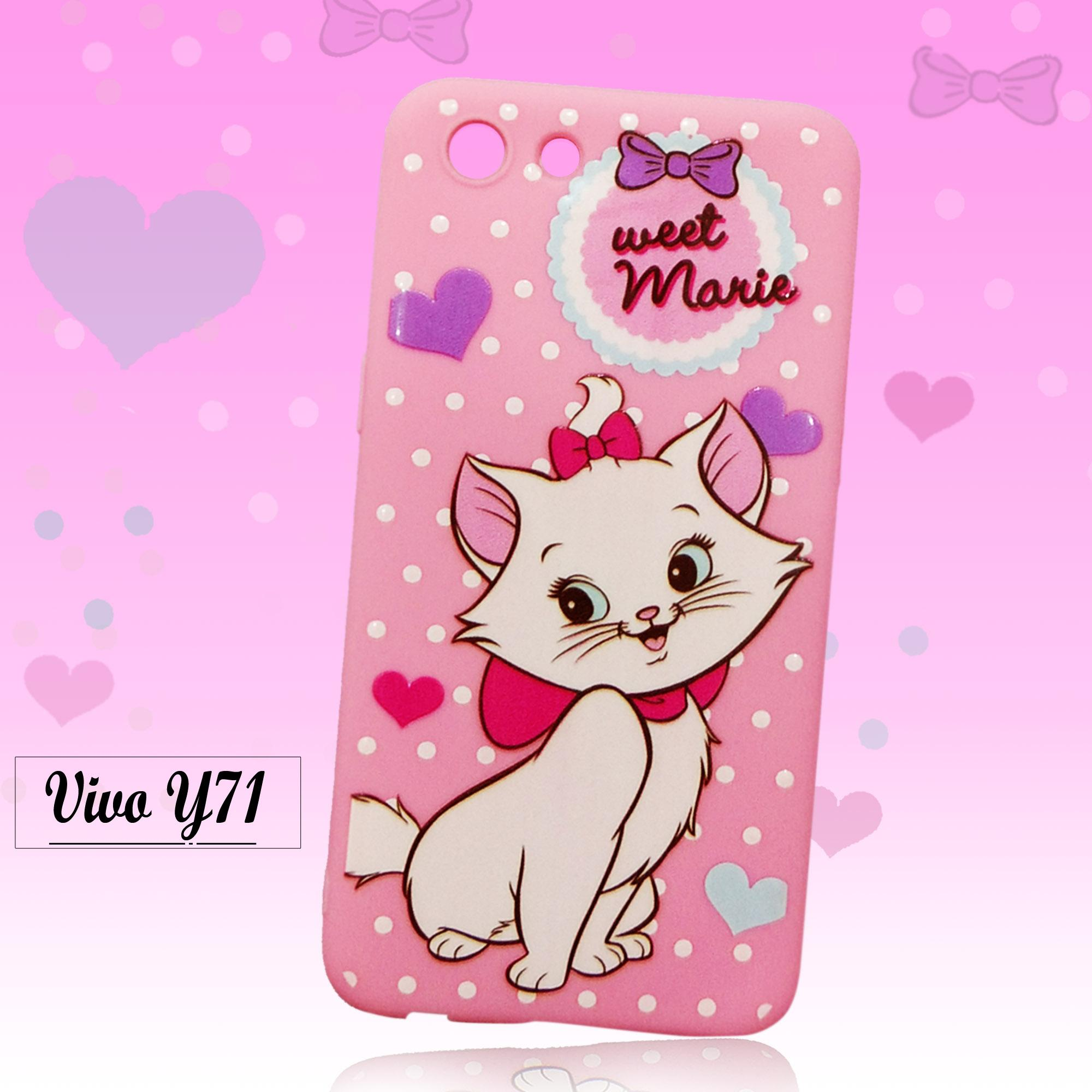 Marintri Case Vivo Y71 New Fashion Cat Marry Cute
