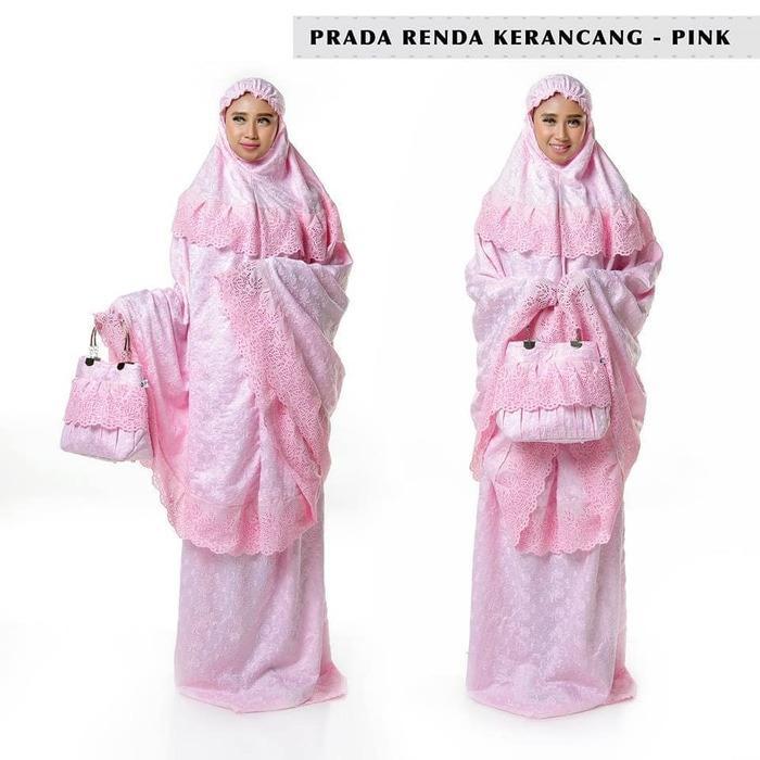Harga Ukhuwah Mukena Behel Satin Sutra Yoryu 01 Pink Termahal
