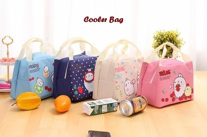 Detail Gambar Lunch Bag / Tas Bekal Cute Molang / Lunch Bag Cooler bag / Tas Bekal Terbaru