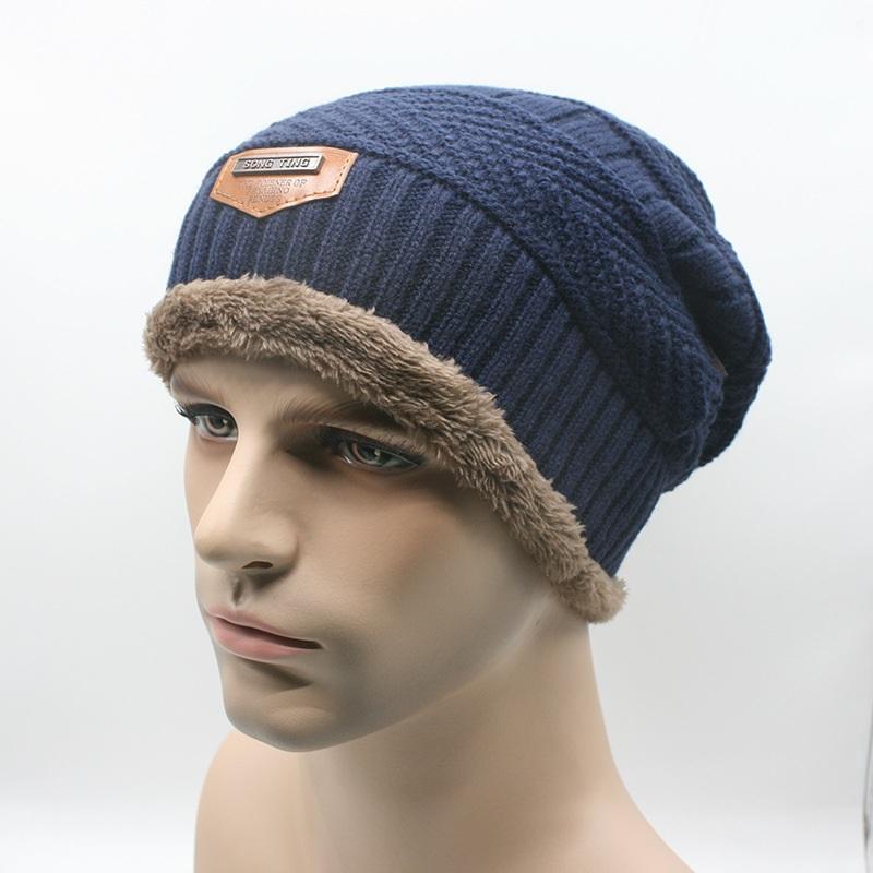 Topi Kupluk Wool Winter Hat Beanie - Biru - 3