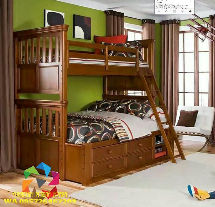 Ranjang susun Tempat tidur anak. PESONA JEPARA 10