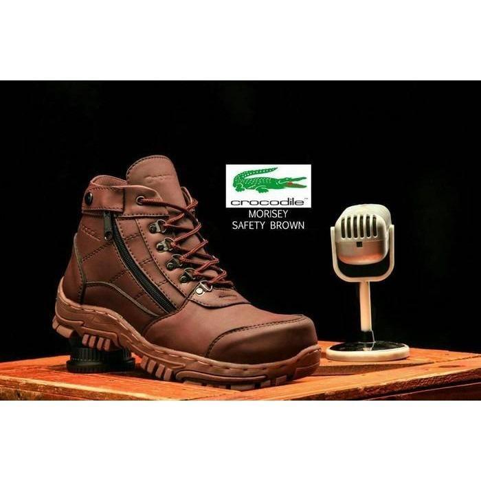 sepatu pria boots crocodile morrisey safety sleting original handmade