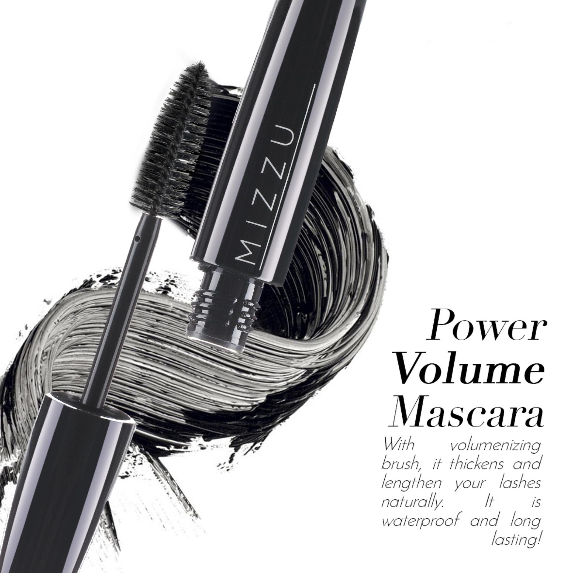 Kehebatan Mizzu True Dimensional Lash Black Waterproof Mascara Dan Inez Lengthening Maskara Power Volume Warna Pigmented Menebalkan Melentikkan