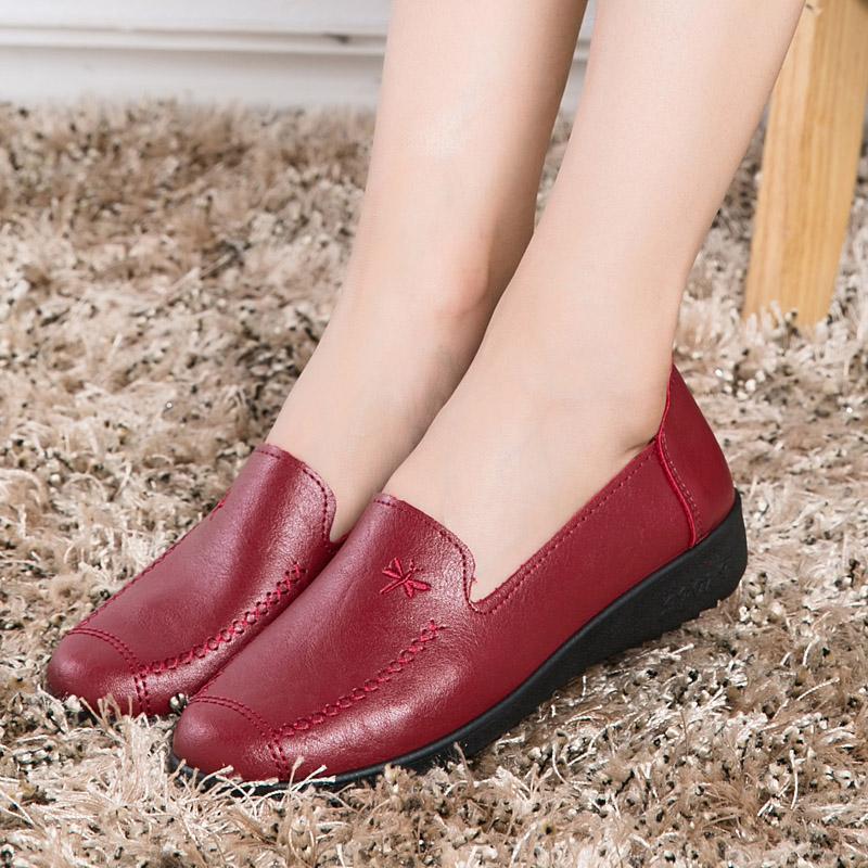 Detail Gambar Yozo Nyaman dan Lembut Datar Tumit Wanita Sepatu Ibu Datar  Sepatu Modis Kasual Ibu 40b3b6cb76