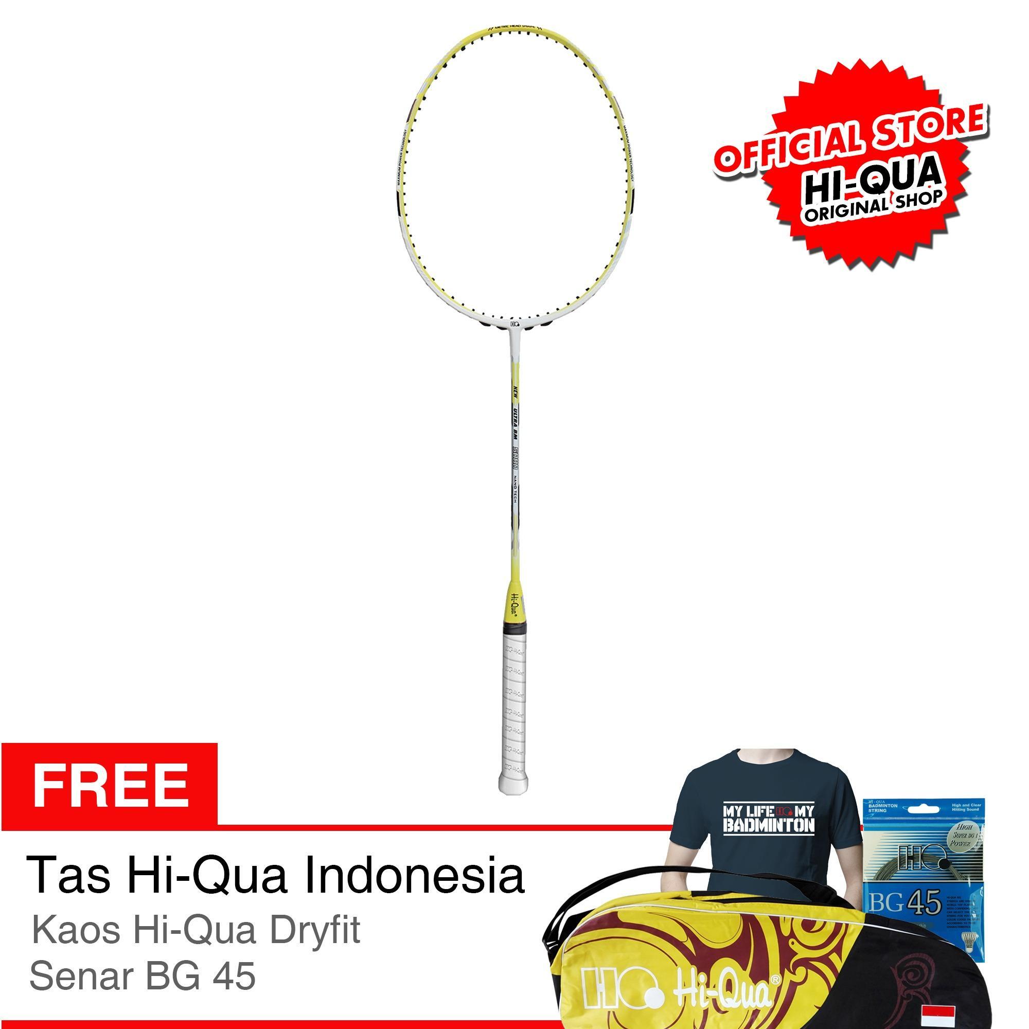 Ongkos Kirim Hi Qua Raket Bulutangkis Badminton New Ultra Bm 5000 Bumblebee Free Senar Bg45 Tas Kaos Di Jawa Timur