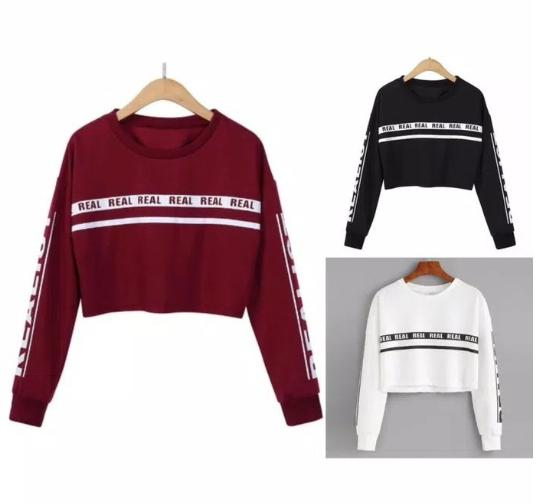 JESLINE COLLECTION #8 SWEATER CROP REAL 3W