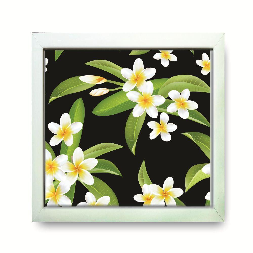 Hiasan Dinding Wall Decor Cafe Kamar Ruang Tamu Motif Tropical Flower Bunga  Kamboja Putih 2f90a0d127