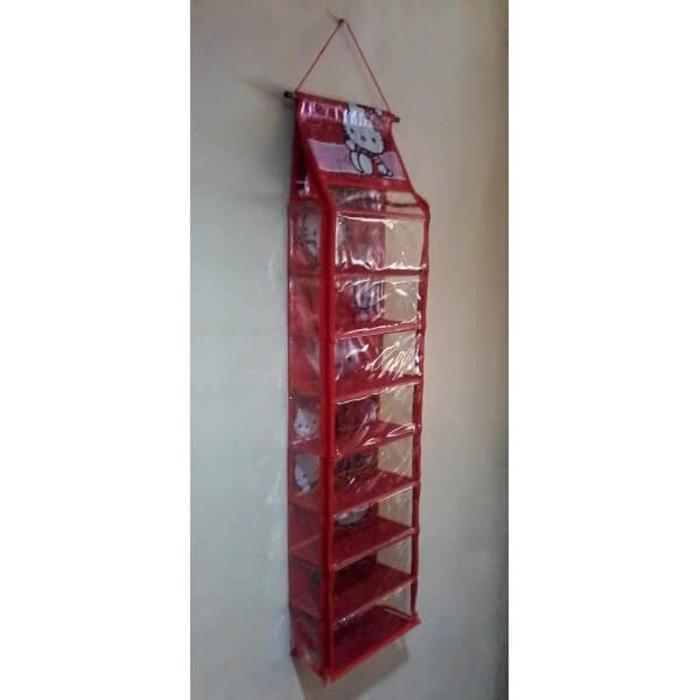 Gambar Produk Hanging Shoes Organizer Karakter Zipper / Rak Sepatu Gantung - EH104 Selengkapnya