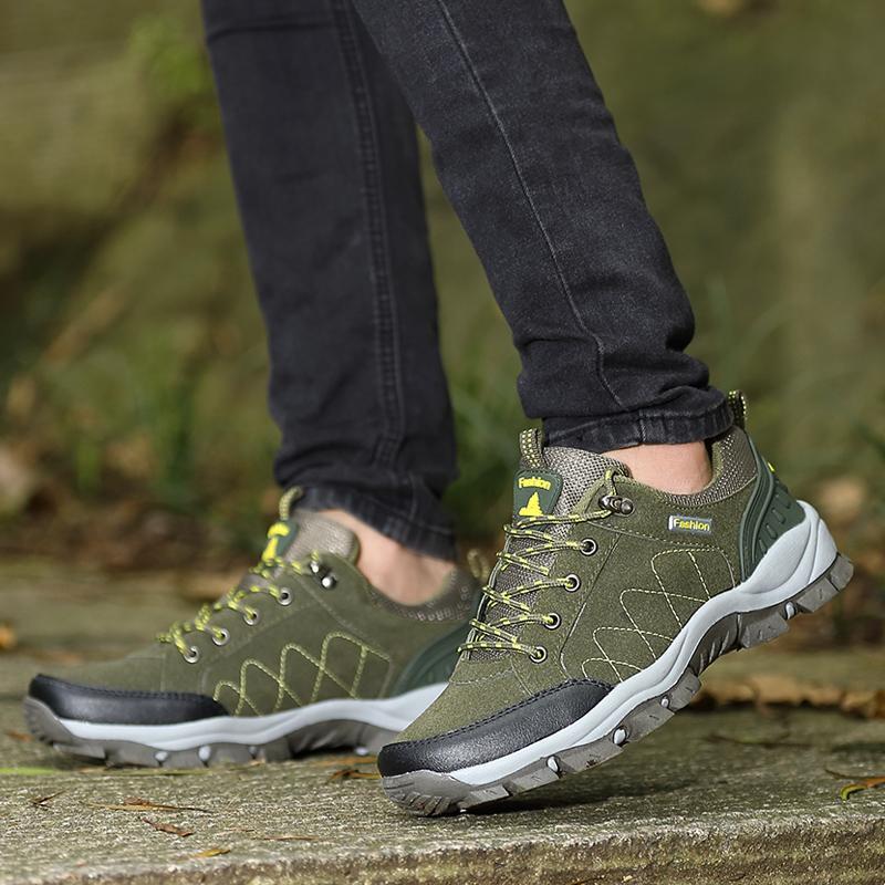 MENTEE Pria Dan Wanita Hiking Sepatu Sneakers Pasangan Sepatu Trekking Climbing Gunung -