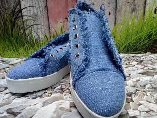 Sepatu Wanita Kets Casual Jeans SDS225 - 2
