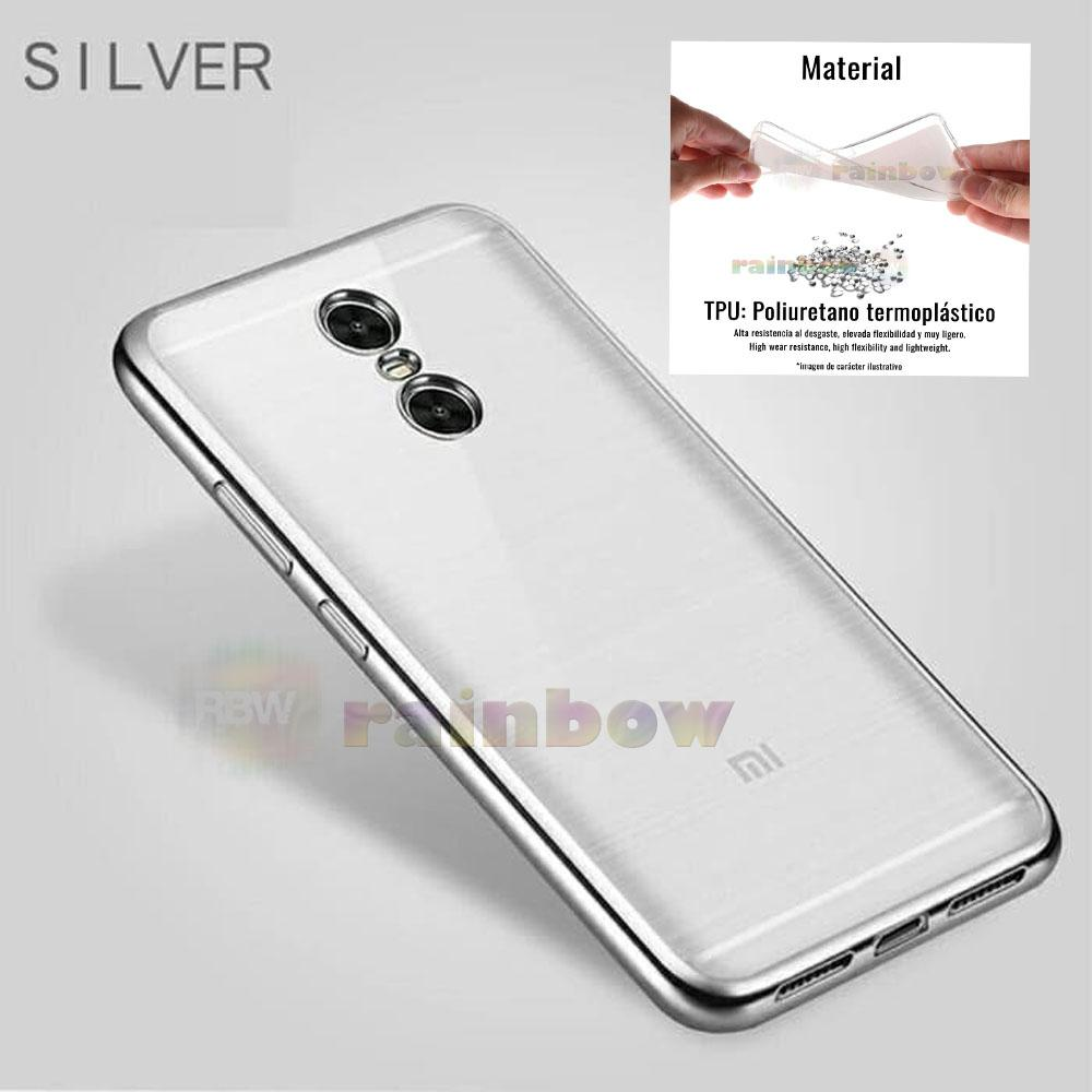 Motomo Chrome Xiaomi Redmi 5+ Soft Case Shining Xiaomi Redmi 5 Plus List Chrome Perak