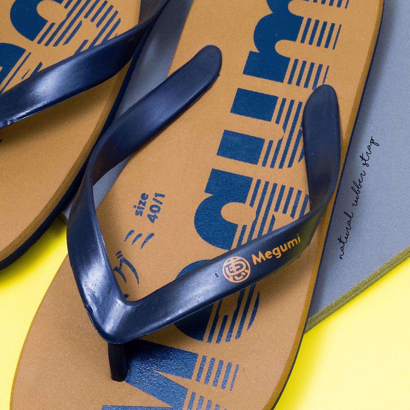 Detail Gambar Megumi Typo Sandal Jepit Pria - Brown Terbaru