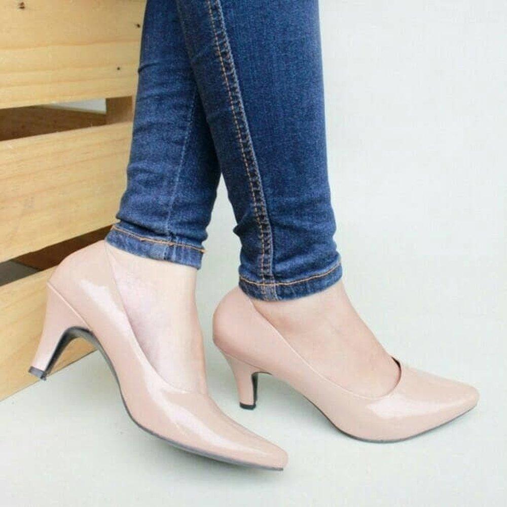 Fitur Clarisse Sepatu Wanita High Heels Pantofel 7cm Mocca Dan Harga Fs62 Coklat