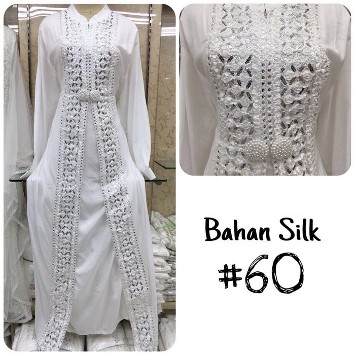 Beli Baju Gamis Putih Busana Muslim Baju Muslim Wanita 60 Jumbo Online Indonesia