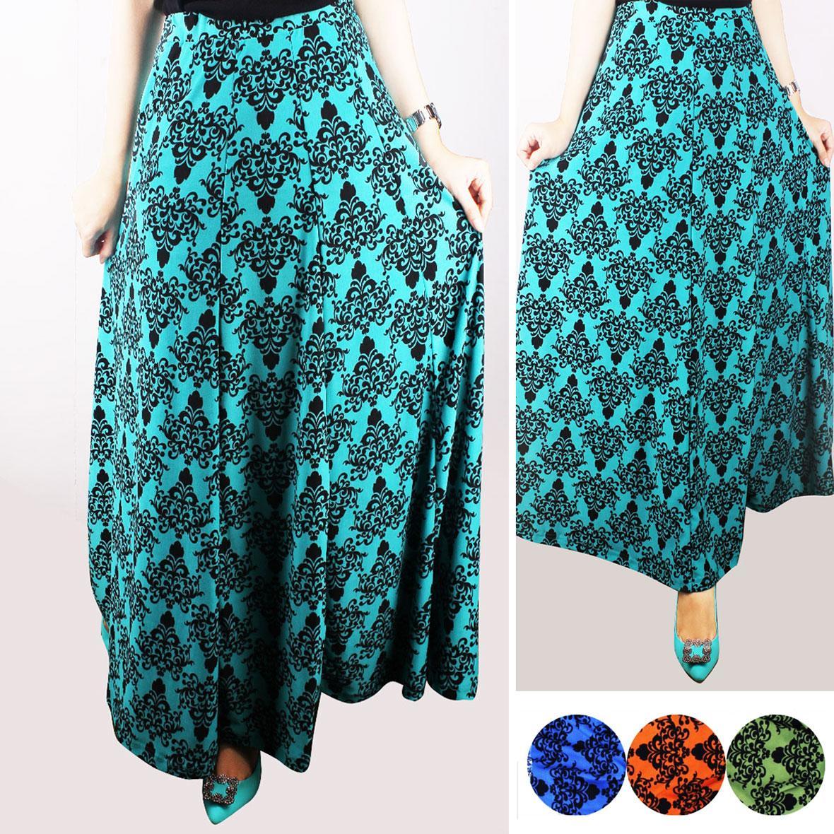 Oma Holley Fashion Ginny Rok Panjang 4 Warna-Size L