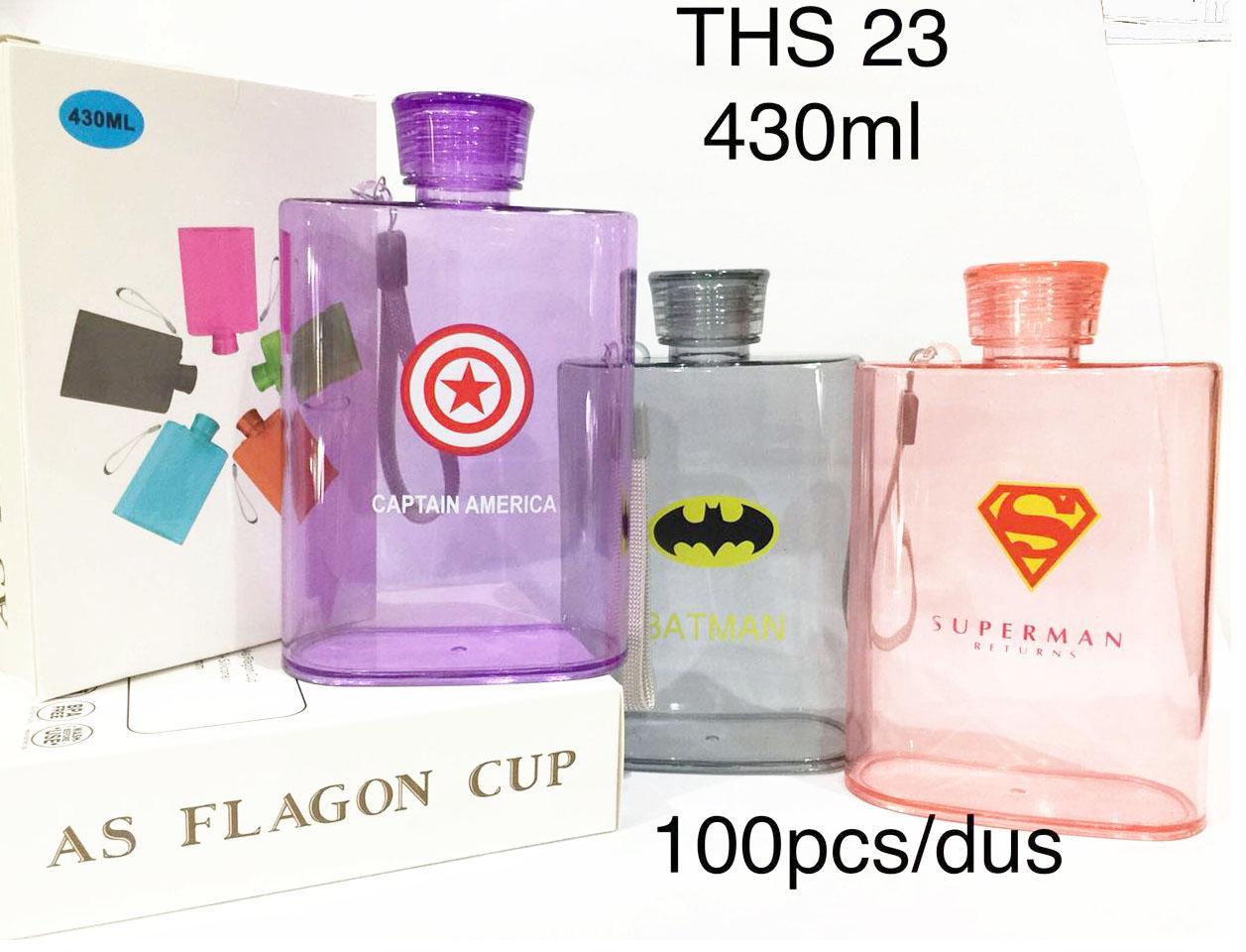 Botol Minum Karakter Super Hero-430ml-THS23